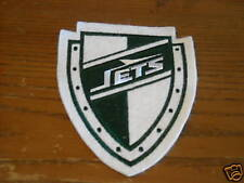 VINTAGE NEW YORK JETS SHIELD PATCH 5 INCHES