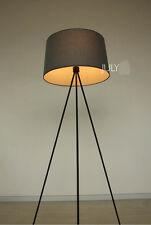* Modern Simple Style Black Metal+Fabrics 3*Lights Three Feet Floor Lamp
