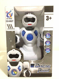 Electronic Robot 360 Spin Bump & Go Colorful Lights & Music Head & Hands Swing