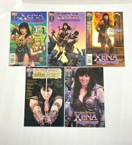 5 Xena Warrior Princess Comic Book Lot Topps Comics VG