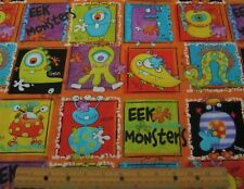 1 yard of COLORFUL EEK MONSTERS on 100% Cotton Fabric