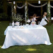 Le Jacquard Francais Tischdecke Siena Blanc Blanc weiß baumwolle 175 x 320 cm