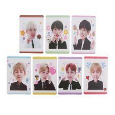 7PCS Kpop BTS BT21 Transparent Cards Plastic Photocard Poster Fine