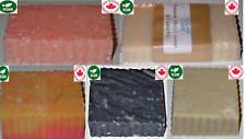 5 Soap Bar Set Cold Processed olive Natural Chamomile Charcoal Himalayan Fruit