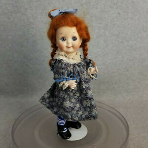 "11"" antique reproduction German JDK Kestner bisque head Googly Eyed Girl Doll"