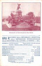 C5587) TORINO 1911 ESPOSIZIONE INDUSTRIE E LAVORO, RICORDO DELLA ARGENTINA.