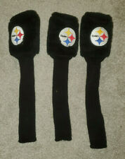 Pittsburgh Steelers Golf Club 3 Piece Driver Wood Headcover Nfl Head Cover 1 3 X