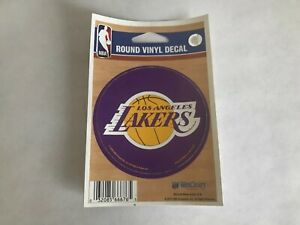 LA Lakers, Round Decal Sticker 2 7/8 Inches (7.3 Cm) Wide  *FREE SHIPPING*