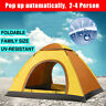 2-4 Person Double Door Instant Pop-up Family Camping Beach Tent Outdoor Shelter