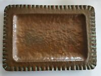 Antique Arts And Crafts Movement hammered Copper tray