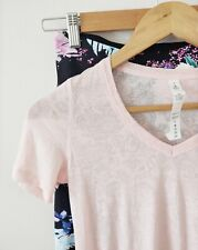 Lululemon Pink Paisley Top Elle Voo Floral 3/4 Tights Gym Bundle Size 10 12 M