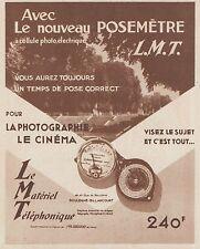 Z8437 Posemétre L.M.T. - Pubblicità d'epoca - 1935 Old advertising