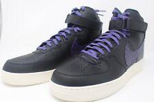 Nike Air Force 1 High '07 LV8 Black/Court Purple/Sail 806403-014 Size 15