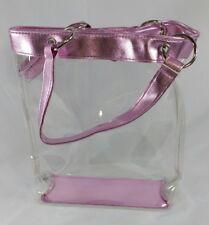 Realities Sweet Desires Pink Clear Makeup Bag New