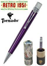 Retro 51 #VRR-1317 / Lacquered Purple Tornado Rollerball Pen