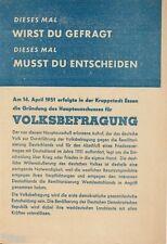 Gründung des Hauptausschusses für Volksbefragung 1951 in Essen DDR Propaganda