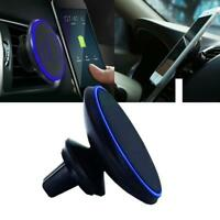 360°Car Mount Qi Wireless Fast Charger Magnetic Holder For Samsung iPhone Access