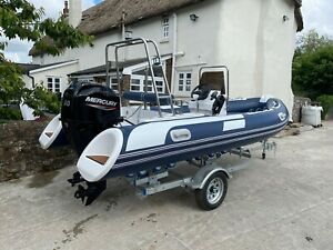 2021 ECHO EX DEMO RIB Speed Boat 480 with New Mercury 60hp Outboard