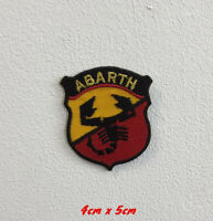 Abarth Sports Cars Art Badge Iron or Sew on Embroidered Patch