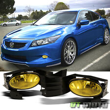 For 2008-2010 Honda Accord Coupe Yellow Bumper Fog Lights Lamp+Switch Left+Right
