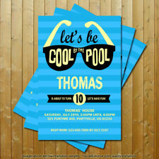 Pool Party Birthday Party Printed Invitations 15 Invites with 15 Envelopes