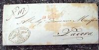 1844 133) LETTERA PREFILATELICA DALLA CASA DI RICOVERO DI VENEZIA A PADOVA
