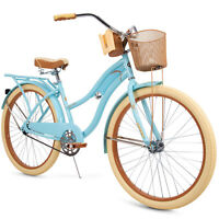 "Huffy 26"" Women's Nel Lusso Beach Cruiser Bike with Perfect Fit Frame Blue"
