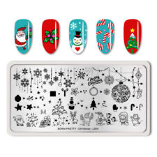 BORN PRETTY Nail Art Stamping Plate Rectangle Nail Stamp Image Plate Christmas