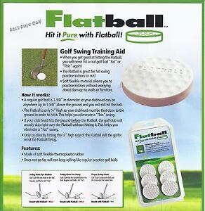 FLATBALLS (6) GOLF SWING AID