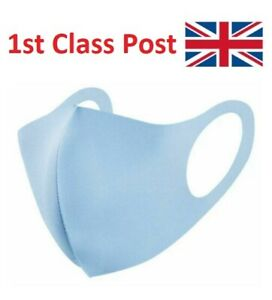 Pack of 3 Reusable Breathable Washable Blue Protective Face Masks Small Large x