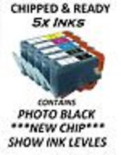 Now ink ltd hp364 XL SHOW INK LEVELS CHIPPED C/M/Y/BK/PBK 2014 B109d B109f