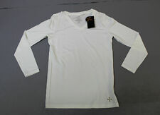 Tommie Copper Women's Recovery Perseverance L/S V-Neck Shirt MW7 White Large NWT