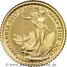Britannia 1/10oz Goldmünze zehntel Unze Gold 2017 Royal Mint 999.9 Feingold