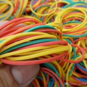 300pcs Strong Elastic Colour Rubber Bands No.18 for Home School Office