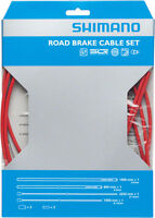 SHIMANO ROAD PTFE ROAD BIKE BICYCLE RED BRAKE CABLE KIT W/ HOUSING