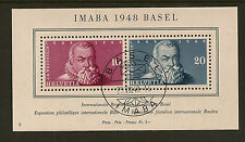 SWITZERLAND :1948 IMABA Exhibition miniature sheet SG MS498a fine used