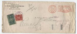 1927 JQ5 25 cent parcel post due LaPorte IN return to sender cover rare! [y5082]