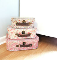 Sass and Belle Floral Vintage Style Retro Flowers Suitcase Home Storage Box