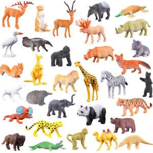 53pcs Kids Toys Jungle Animal Toy Set Zoo Safari Set Model Early Education Toy