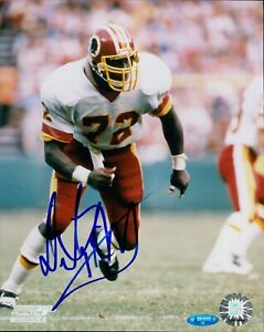 Dexter Manley Washington Redskins Signed 8x10 Glossy Photo TRISTAR Authenticated