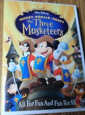 THE THREE MUSKETEERS MICKEY DONALD GOOFY DVD FUN FOR ALL ~ DISNEY