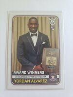 2020 TOPPS BIG LEAGUE AWARD WINNERS YORDAN ALVAREZ #270 HOUSTON ASTROS ROOKIE RC