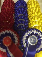 Set Of Show Rosettes 10 Sets 1st-3rd Plus Best In show And Reserve Best In Show