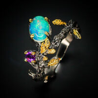 New Fashion Popular Design Jewelry Women Opal 925 Sterling Silver Ring / RVS270