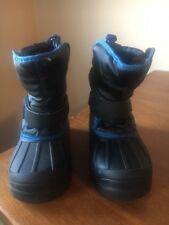 Athletech - Boy's Snow Boots (Size 2 - Black/Blue) Pre-Owned