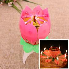 Bougie musicale fleur ''Chante joyeux anniversaire'', pour Saint-Valentin, etc..