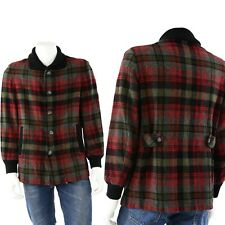 50s Vintage Mens M Pendleton Plaid Wool Fitted Coat