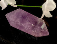 24g DOUBLE TERMINATED AMETHYST QUARTZ CRYSTAL HEALING WAND  Reiki  S.Africa