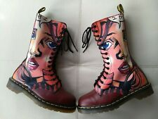 DOC DR MARTENS MANGA ANIME GIRL FACE 1914 BOOTS RARE VINTAGE MADE IN ENGLAND 6UK