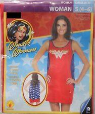 WONDER WOMAN ADULT COSTUME Small 4-6 Superhero Cape Halloween Cosplay Rubies NEW
